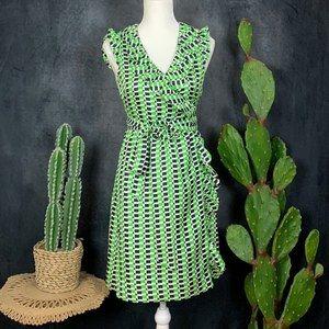 Kate Spade Aubrey Silk Ruffle Wrap Dress 4    G595